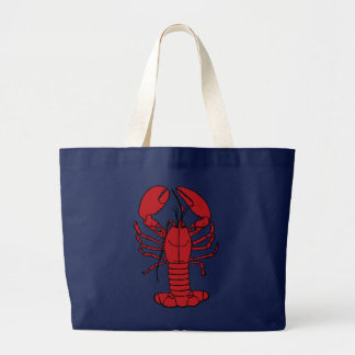 Cute Lobster Nautical beach tote bag