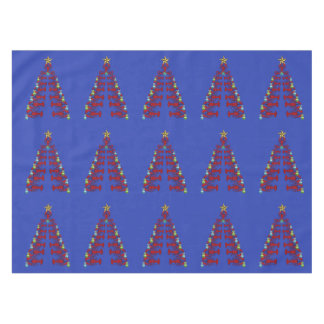 Cute Lobster Nautical  Christmas tablecloth blue
