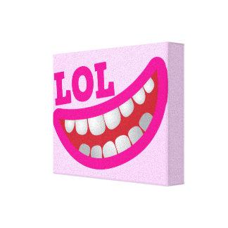 Cute LOL happy smiley teeth Canvas Print