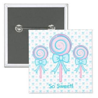 Cute Lollipop 15 Cm Square Badge