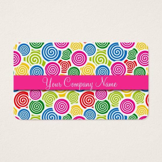 Cute Lollipop Candy Shop Bakery Business Card