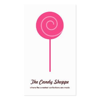 Cute Lollipop Candy Shoppe Business Cards