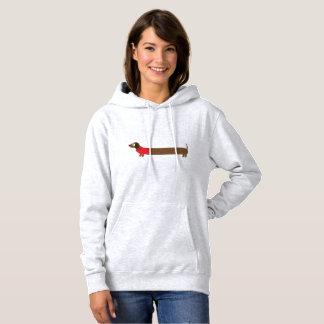 Cute Long Dachshund Illustration Hoodie