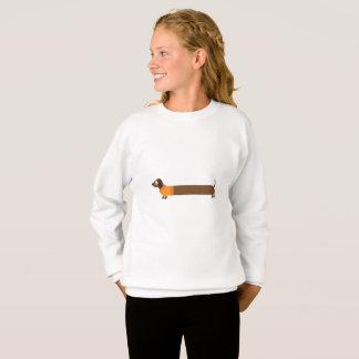 Cute Long Dachshund Illustration Sweatshirt