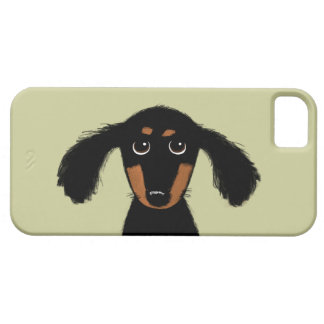 Cute Long Haired Dachshund Puppy iPhone 5 Cases