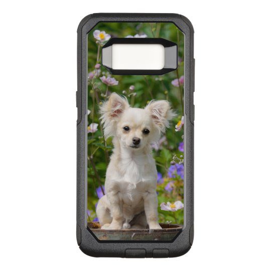 Cute longhair cream Chihuahua Dog Puppy Pet Photo OtterBox Commuter Samsung Galaxy S8 Case