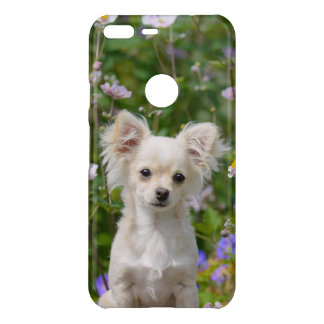 Cute longhair cream Chihuahua Dog Puppy Photo on - Uncommon Google Pixel XL Case