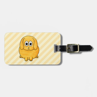 Cute Lop Bunny, with stripe background. Luggage Tag