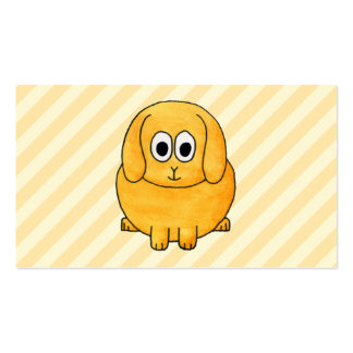 Cute Lop Bunny, with stripe background. Pack Of Standard Business Cards