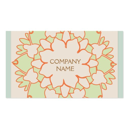 Cute Lotus Natural Holistic Health and Beauty Business Cards