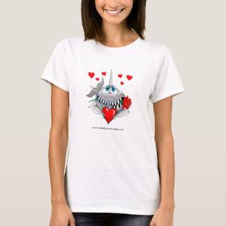 Cute lovable shark womans t-shirt