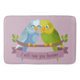 Cute Love Birds bath mats