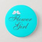 Cute love birds Flower Girl 7.5 Cm Round Badge
