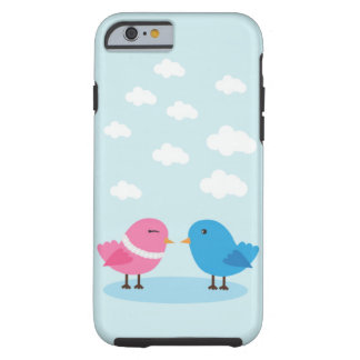 Cute love birds in the sky iPhone 6, Tough Tough iPhone 6 Case