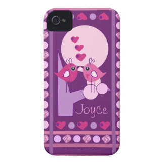 Cute Love Birds iPhone 4 case-mate with Name Case-Mate iPhone 4 Cases