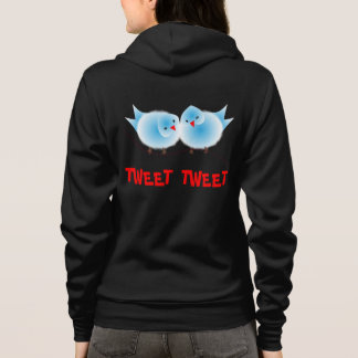Cute Love Birds Love to Twitter Tweet Tweet Hoodie