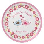 Cute Love Birds You're so tweet! Plate