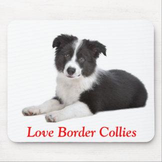 Cute Love Border Collies Puppy Dog Mousepad
