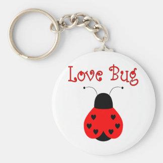 Cute Love Bug Heart Ladybug Keychain