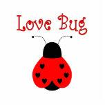 Cute Love Bug Heart Ladybug Ornament Photo Sculpture Decoration