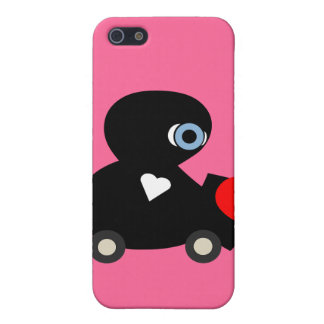 cute love bug,hearts,kisses skin for your iphone case for iPhone 5/5S