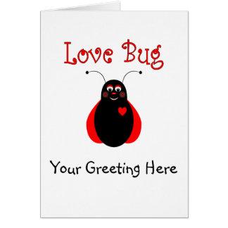 Cute Love Bug Ladybug Greeting Card