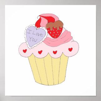 Cute Love Cupcake Print