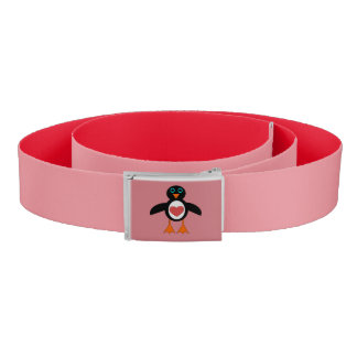 Cute Love Heart Penguin Belt