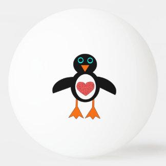 Cute Love Heart Penguin Ping Pong Ball