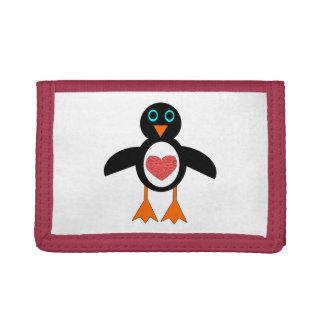 Cute Love Heart Penguin Wallet