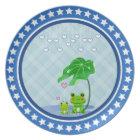 Cute Love Heart Rain & Frogs - Love Just Happens Plate