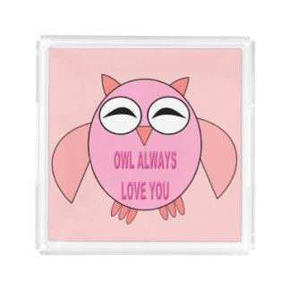 Cute Love Message Owl Perfume Tray
