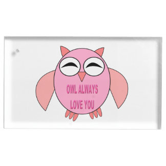 Cute Love Message Owl Table Card Holder
