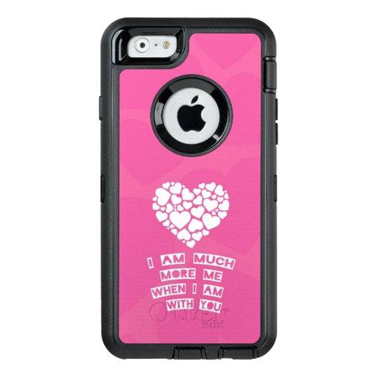cute love mobile phone case pink