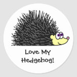 Cute Love My Hedgehog Stickers / Label