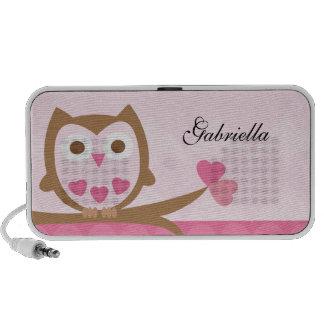 Cute Love Owl Doodle Custom Speakers Personalized