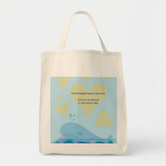 Cute Love Quote Tote with Whale