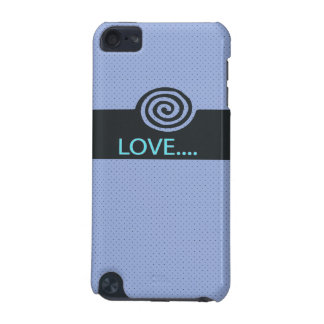 cute love spiral blue iPod touch 5G covers