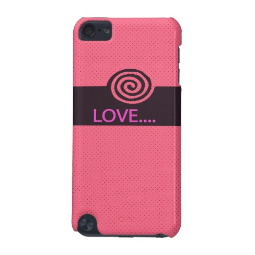 cute love spiral iPod touch 5G covers