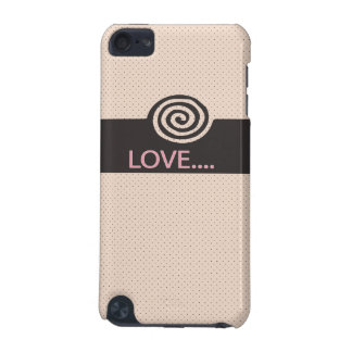 cute love spiral tan iPod touch 5G covers