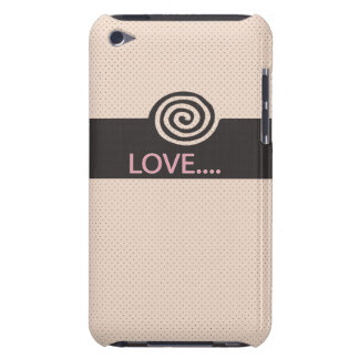 cute love spiral tan barely there iPod cases