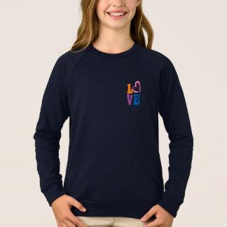 cute love sweatshirt design hipster chic