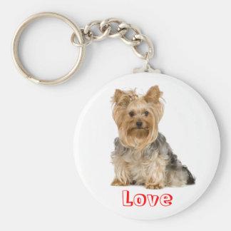 Cute Love Yorkshire Terrier Puppy Dog Key Chain