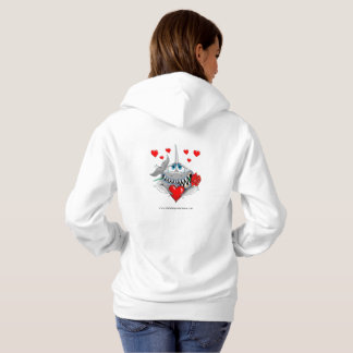 Cute loveable shark womans hoodie. No slogan. Hoodie