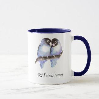 Cute Lovebirds, Best Friends Forever, BFF Mug