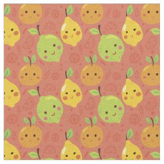 Cute Lovely Cartoon Orange, Lemon and Lime Fabric