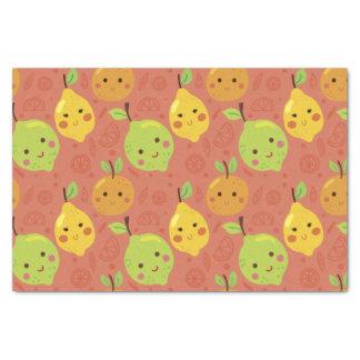 Cute Lovely Cartoon Orange, Lemon and Lime Tissue Paper