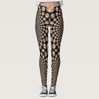 Cute Lovely infinity Kaleidoscope Cheetah print Leggings