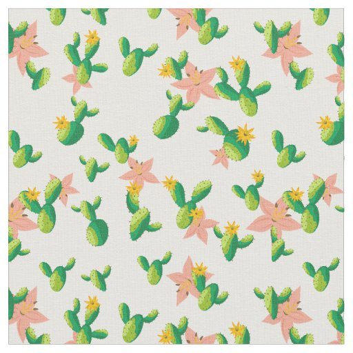 Cute Lovely Watercolor flowers succulent cactus Fabric