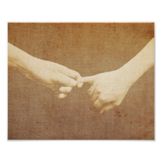 Cute Lover Clasping Finger Poster
